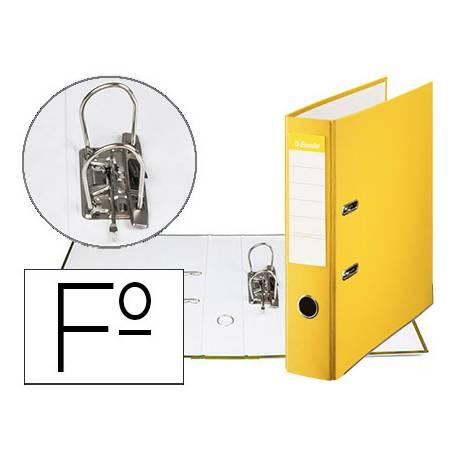 Archivador de Palanca Esselte Carton Forrado Folio Lomo de 75 mm color Amarillo
