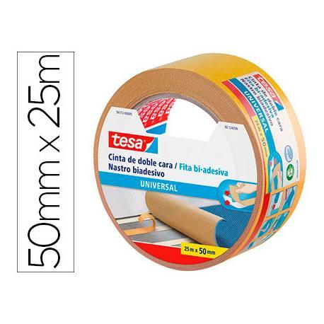 Cinta adhesiva Tesa de Doble cara Universal 25m x 50mm