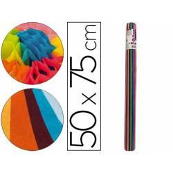 Rollo papel seda marca Liderpapel 50x75 cm de 24 hojas 12 colores surtidos