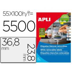 Etiqueta adhesiva de Apli 36,8 X 23,8