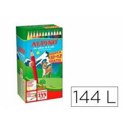 Lápices de colores ALPINO 144 unidades
