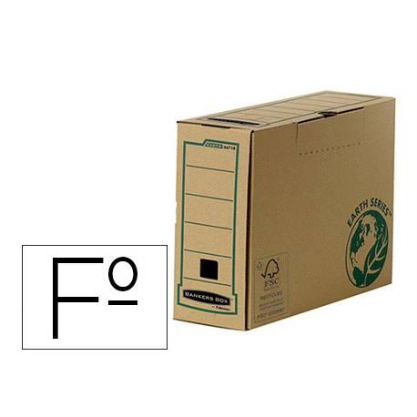 Caja Archivo Definitivo Fellowes Carton Reciclado Folio 100 mm