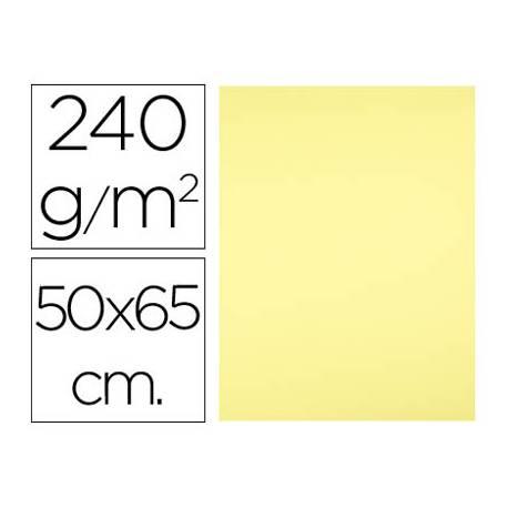 Cartulina Liderpapel Amarillo medio de 50x65 cm 240 gr