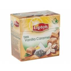 Infusion de te en piramides vainilla caramelo marca Lipton