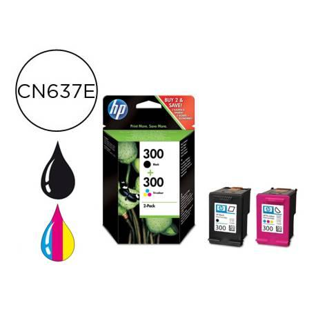 Cartucho marca HP 300 negro y tricolor CN637EE