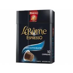 Cafe L´Arome Espresso decaffeinato Marcilla Capsulas