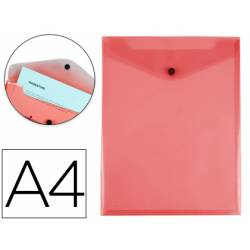 Carpeta Liderpapel dossier broche polipropileno din A4 rojo