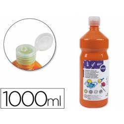 Tempera Liderpapel color naranja 1000 cc