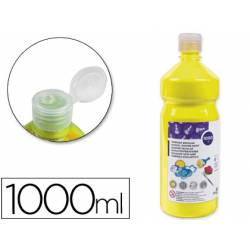 Tempera Liderpapel color amarillo 1000 cc