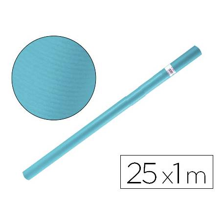 Bobina papel tipo kraft Liderpapel 25 x 1 m azul turquesa