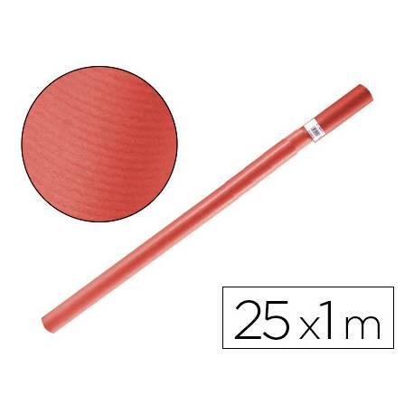 Bobina papel tipo kraft Liderpapel 25 x 1 m rojo