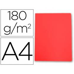 Subcarpeta de cartulina Gio Din A4 rojo pastel 180 g/m2