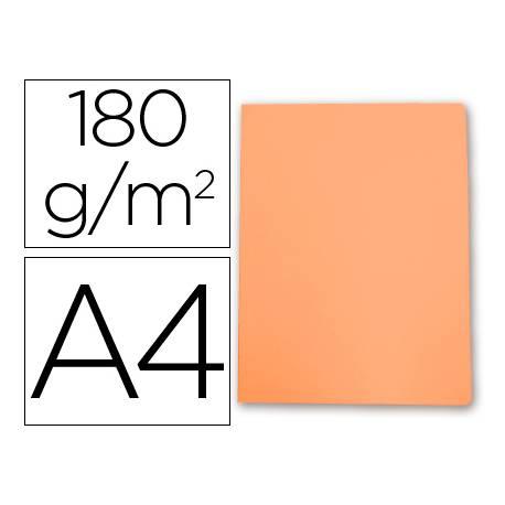 Subcarpeta de cartulina Gio Din A4 naranja pastel 180 g/m2