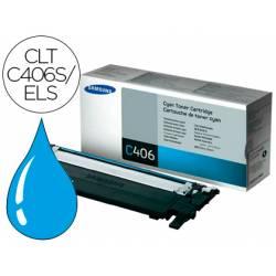 Toner original Samsung CLT-C406S/ELS Color Cian