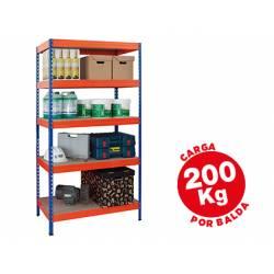 Estantería AR Storage metálica con 5 estantes 200 kg