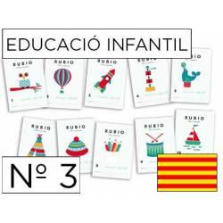 Cuaderno Rubio Educació Infantil nº 3 Desarrollo motriz en Catalán