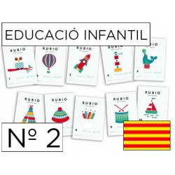 Cuaderno Rubio Educació Infantil nº 2 Desarrollo motriz en Catalán