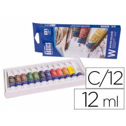 Acuarela Artist caja carton de 12 colores surtidos 12 ml