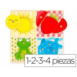 Puzzle a partir de 1 año 4 Colores Goula