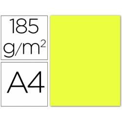 Cartulina Guarro din A4 amarillo limon 185 gr paquete 50 hojas
