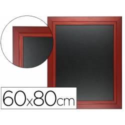 Pizarra Liderpapel mural negra de madera 60x80 cm