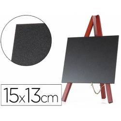 Juego 3 pizarras Liderpapel con caballete negra 15x13 cm