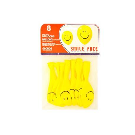 Globos hinchables con cara sonriente
