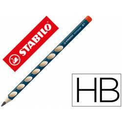 Lapices grafito Stabilo para diestros ergonomico minas HB triangular