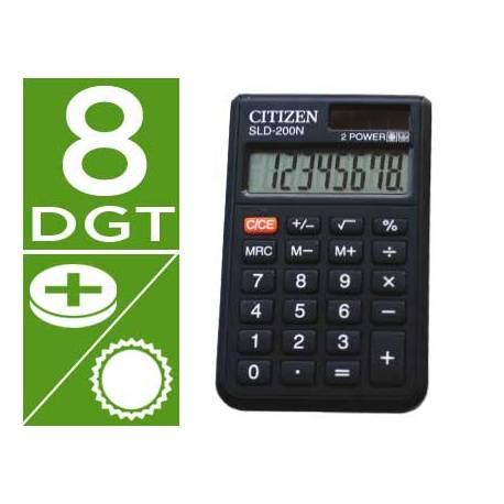 Calculadora bolsillo Citizen Modelo SLD-200-N 8 digitos