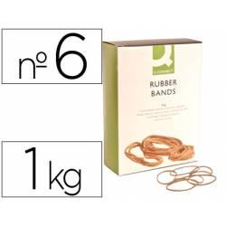 Gomillas elasticas Q-connect 1000 gr numero 6