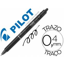 Boligrafo Borrable Pilot Frixion retractil 0,4 mm Color Negro