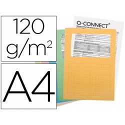 Subcarpeta de cartulina Q-connect Din A4 colores surtidos paquete 25