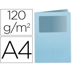 Subcarpeta de cartulina Q-Connect Din A4 color azul