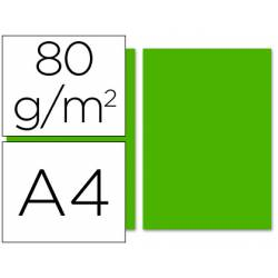 Papel color Liderpapel color verde intenso a4 80 g/m2 100 hojas