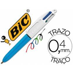 Boligrafo Bic cuatro colores Mini trazo 0,4 mm