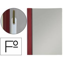 Carpeta dossier fastener Esselte PVC rigido Folio color burdeos