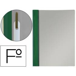 Carpeta dossier fastener Esselte PVC rigido Folio color verde