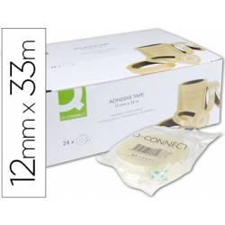 Cinta adhesiva marca Q-Connect 33mt x 12mm encelofanada