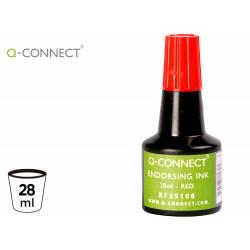 Tinta tampon Q-connect rojo de 28 ml