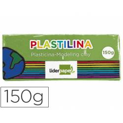Plastilina Liderpapel color verde claro mediana
