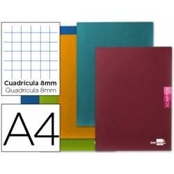 Libreta escolar Liderpapel Scriptus cuadricula 8 mm tamaño DIN A4