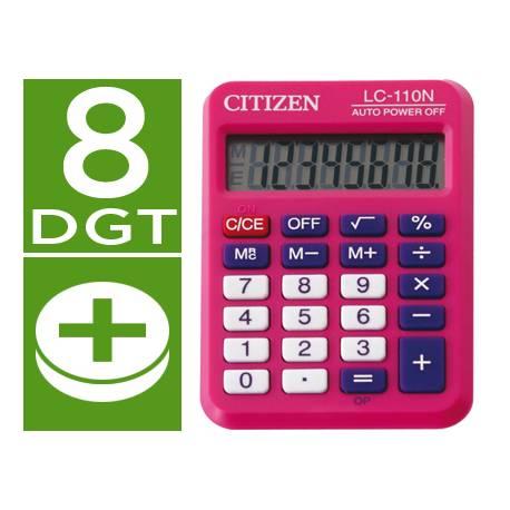 Calculadora bolsillo Citizen Modelo LC-110N fucsia 8 digitos