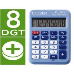 Calculadora bolsillo Citizen Modelo LC-110N celeste 8 digitos