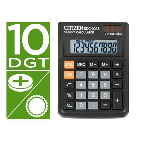 Calculadora sobremesa Citizen SDC-022S 10 digitos