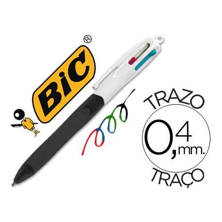 Bolígrafo marca Bic 4 colores Grip 0,4 mm