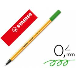 Rotulador Stabilo point 88/33 Verde manzana
