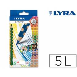 Lapices de colores marca Lyra groove triangular