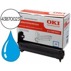 Tambor OKI cyan XL -20000pag- (43870023) C5850 C5950