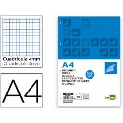 Recambio extrafuerte Liderpapel din A4 4mm