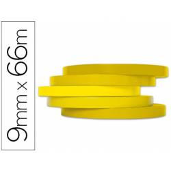 Cinta precintadora marca Q-Connect 66mx9mm amarilla